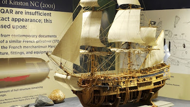 Photo: Model of Queen Anne's Revenge - Part of the QAR exhibit at the Maritime Museum on Front Street