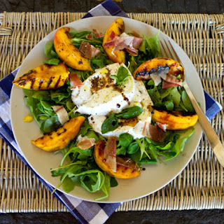 Grilled Peach & Buffalo Mozzarella Salad