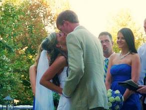 Photo: First Kiss - 9/10 - Mary's @ Falls Cottage - Greenville, SC - http://WeddingWoman.net