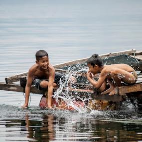 by Kesuma Wijaya - Babies & Children Children Candids ( water, child, happy, play, candid )