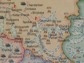 Photo: Day 1 - our approach route - Bhaironghati-Gangotri-Chirbhasa-Bhojbhasa-Gaumukh-Nandanvan-Vasuki Tal-Satopanth