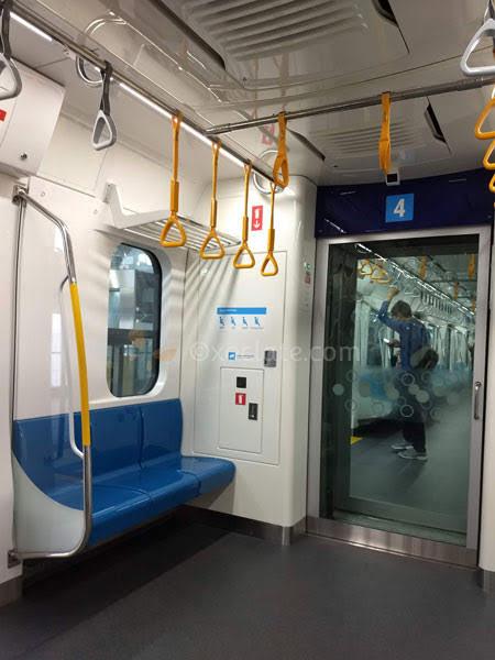 Priority seats area - MRT Jakarta