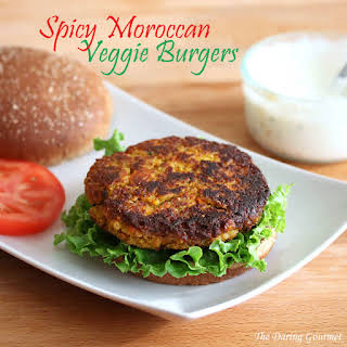 Curried Moroccan Millet Burgers.