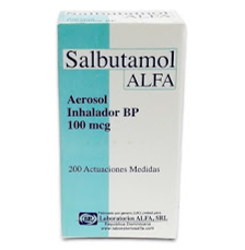 salbutamol inhalador alfa