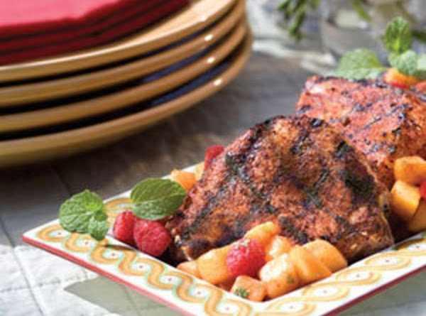 Spice Rubbed Porkchops With Yummy Fruit Salsa Recipe