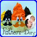 Father's day cake photo frame icon