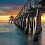 Endless Pier by Brad Kalpin - Landscapes Sunsets & Sunrises ( naples, sunset, florida, pier, landscape )