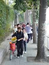 Photo: Beijing - quite crowded Houhai lake bank