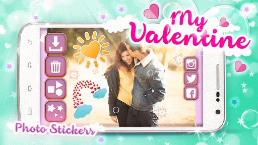 My Valentine Photo Stickers