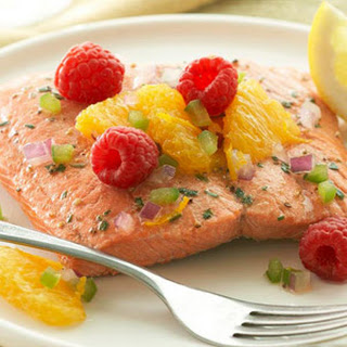 Citrus Salmon Fillets with Raspberry Salsa