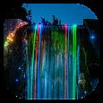 Neon waterfall live wallpaper Icon