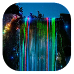 Neon waterfall live wallpaper Icon