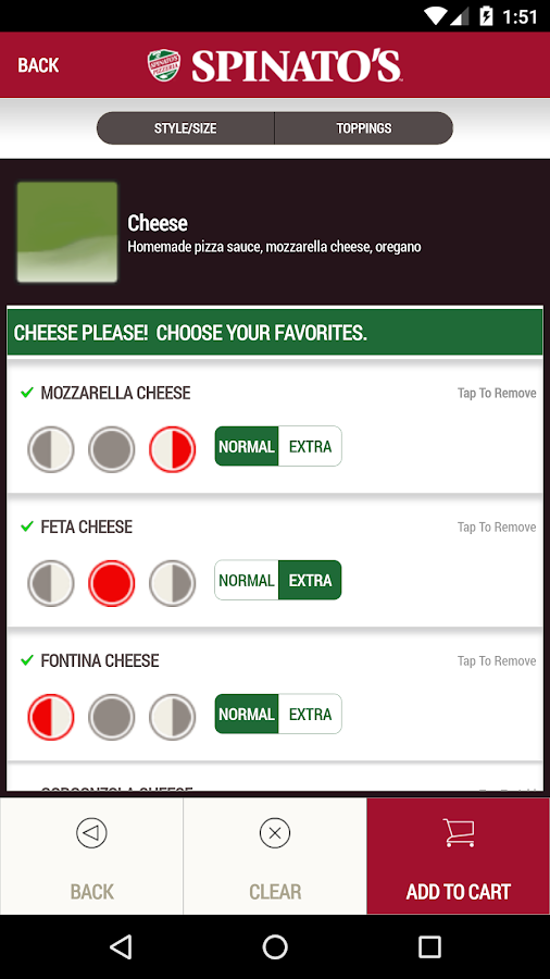 Spinato's Pizzeria- screenshot