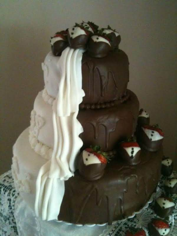 Bride And Groom Cake In One!