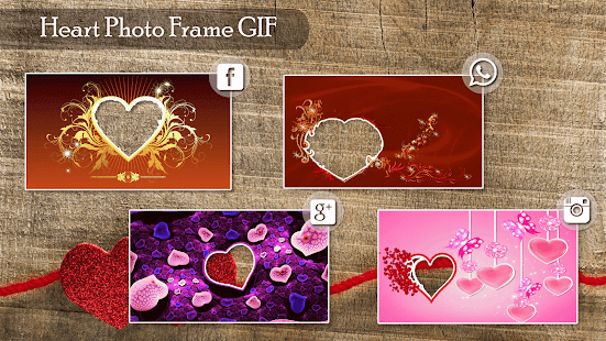 Lovely Heart GIF Photo Frame Editor - náhled