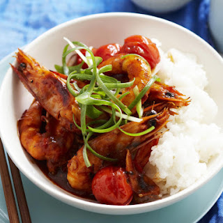 Stir-Fried Shrimp and Tomato.