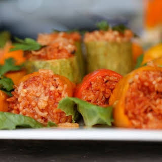 Rice Stuffed Bell Peppers.