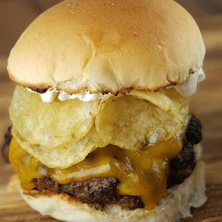 Onion Potato Chip Burgers.