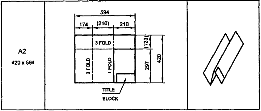 Folding of drawing sheet for storing in filing cabinet