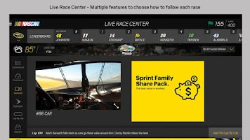 Screenshot of NASCAR MOBILE