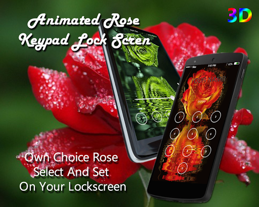 Rose Keypad lock Screen