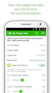 MyNetDiary Calorie Counter PRO - screenshot thumbnail