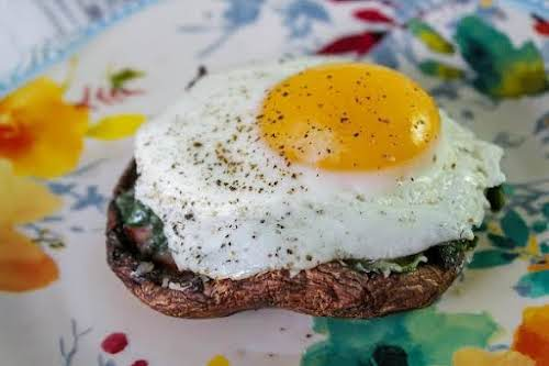 "Stuffed Portabella Caps ""This makes a hearty breakfast and/or a good side..."