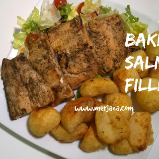 Baked Salmon Fillets Recipe with Potatoes