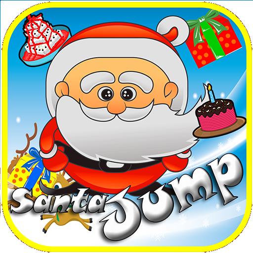 休闲のクリスマスのゲームの子供たちをジャンプサンタクロース LOGO-記事Game