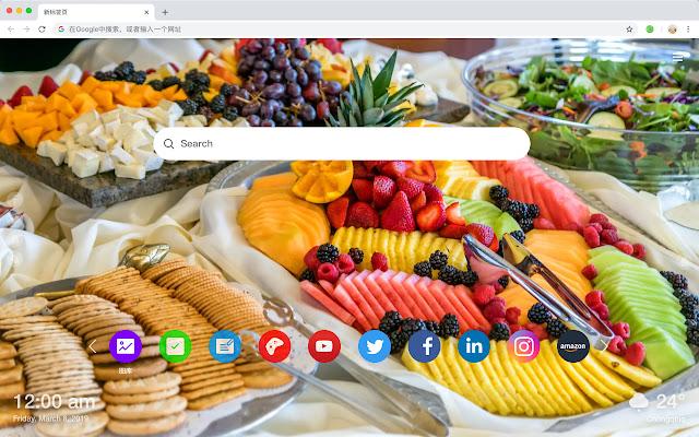 Salad Hot Food HD Wallpapers New Tabs Theme