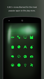 PipTec Green Icons & Live Wall (Pro Version) Screenshot