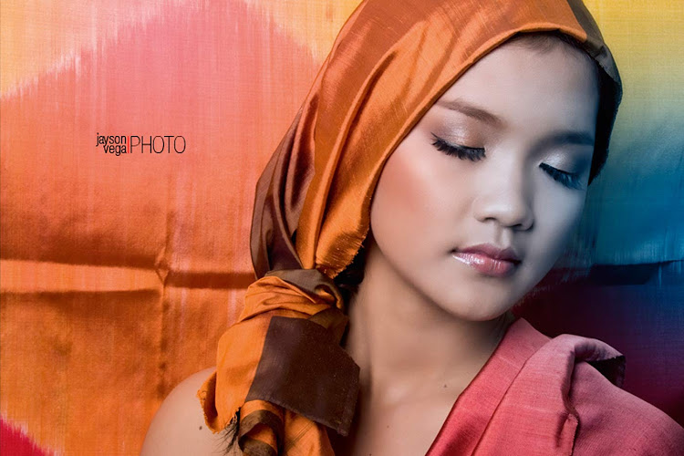 A young woman in a magazine fashion shoot in Phnom Penh, Cambodia.