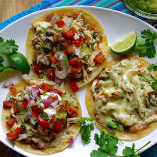 Leftover Chicken & Cheese Tacos Recipe
