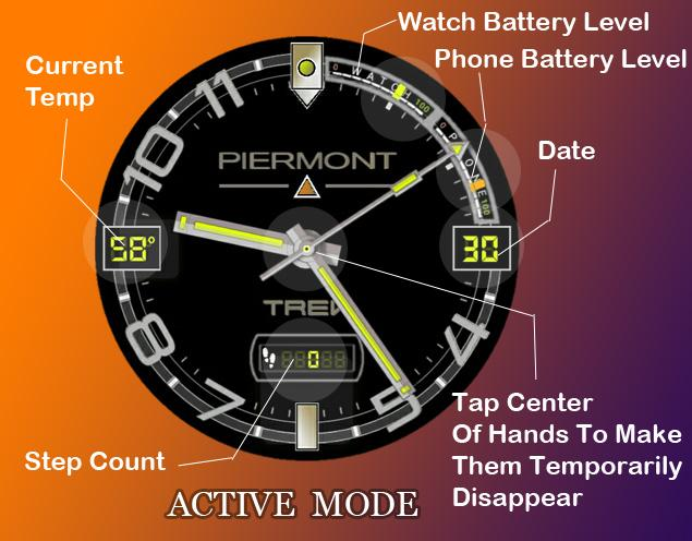 Piermont Trek Watch Face- screenshot