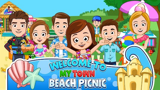 My Town : Beach Picnic MOD (Paid Content) 1