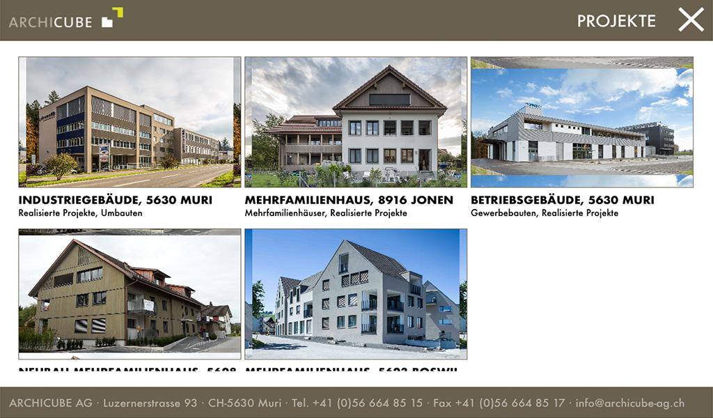ARCHICUBE AG – Screenshot