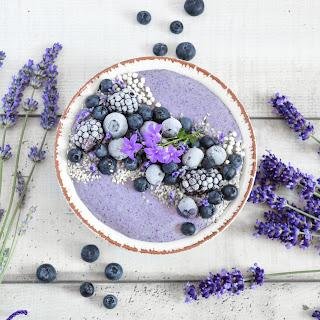 Creamy Blueberry Smoothie.