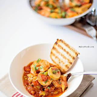 One Pot Shrimp, Tomato and Potato Stew.