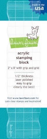Lawn Fawn 2X8 Acrylic Block W/Grip & Grid