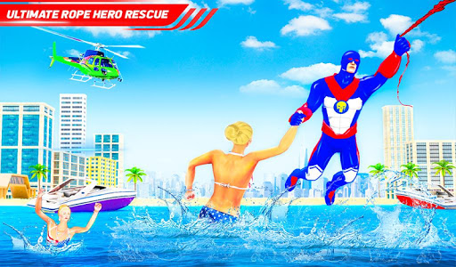 Flying Police Robot Rope Hero: Gangster Crime City apkmr screenshots 13