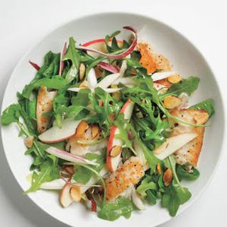 Tilapia Salad With Apples and Almonds.