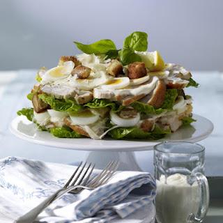 Layered Chicken Caesar Salad