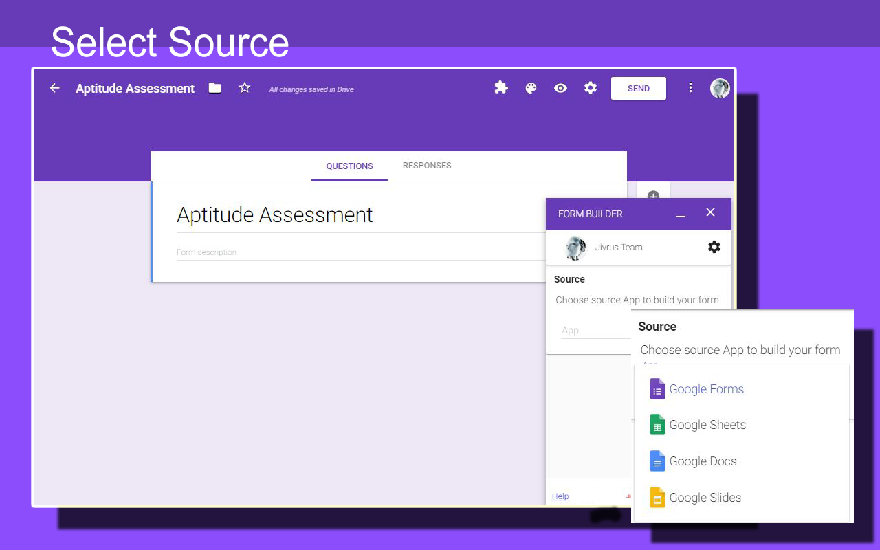 Can be done in the form of the change order sheet. Form Builder Google Workspace Marketplace