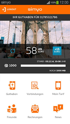 simyo - Mein simyo unterwegs screenshot 1
