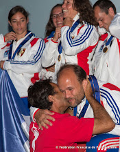 Photo: Remise des médailles d'Or du Voile Contact Séquence à 4 par Patrice Girardin.