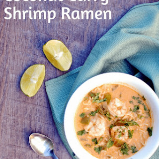Coconut Curry Shrimp Ramen Bowl.