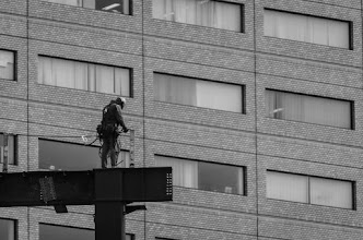 Photo: A Japanese construction worker in Central Tokyo