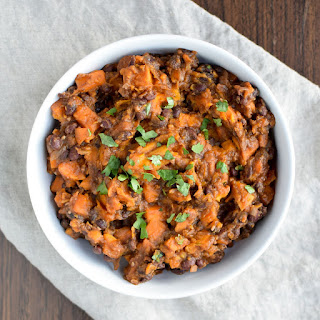 BBQ Black Bean Slow Cooker Sweet Potatoes.