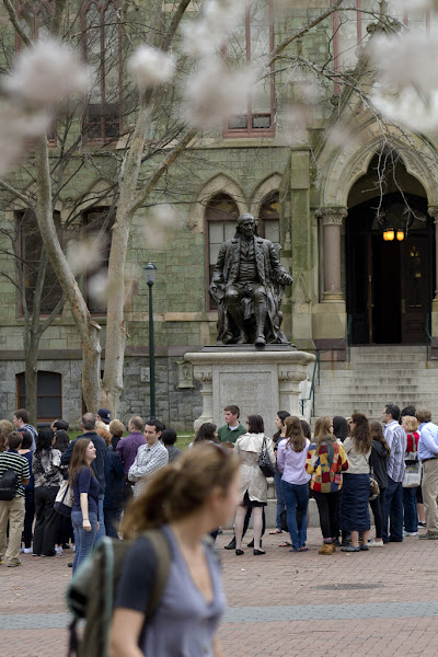 Photo: Tours gathering around College Hall.  — at University of Pennsylvania.