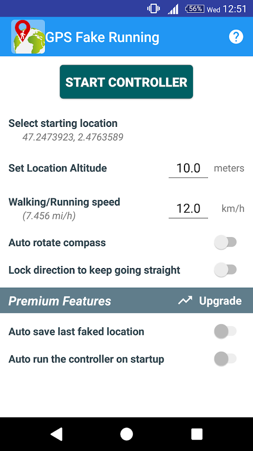 GPS Fake Running- screenshot